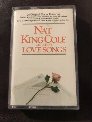 Nat King Cole Greatest Love Songs inc Stardust + Cassette Tape - TESTED