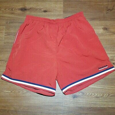 30486cdf3470e Vintage 90s NAUTICA COMPETITION Mens Large Spell Out Swimming Swim Trunks  Shorts