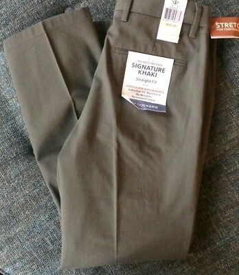 Nwt Dockers Best Pressed Straight Fit Pant Signature Khaki Men 30 X 30 Taupe Y16