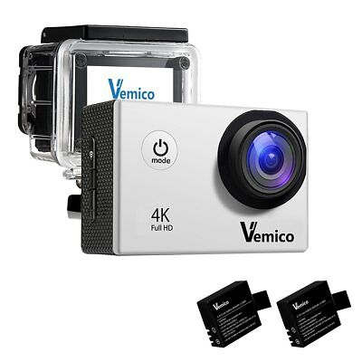 Vemico Action camera Sports Camera 4K 16MP WIFI Waterproof Cam 40M Underwater Ca