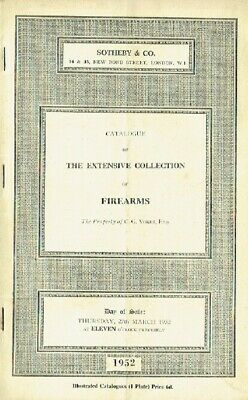 Sothebys March 1952 The Extensive Collection of Firearms