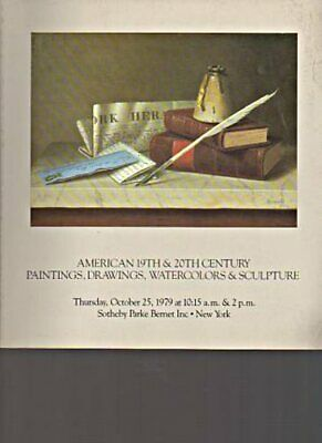 Sothebys 1979  American Paintings & Watercolors 19th & 20th C