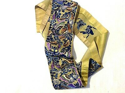 Antique Chinese Embroidered Butterfly's sash silk wrapping sleeve panel ?