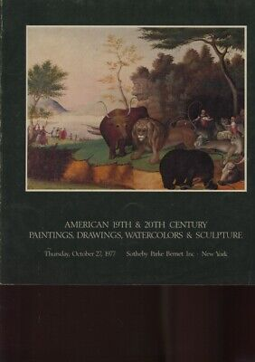 Sothebys 1977 American 19th & 20th Century Paintings
