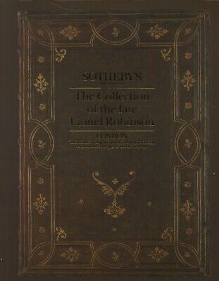 Sothebys June 1986 The Collection of Lionel Robinson Printed Books & Manuscripts