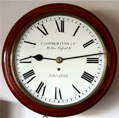 Superb Camerer Cuss & Co London Fusee wall clock C1900