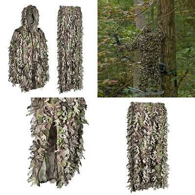 North Mountain Gear 3D Leafy Camouflage Ghillie Suit Woodland GREEN Camo Lightwe