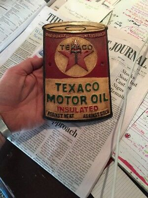 Texaco Oil Metal Sign Antique Style Metal Cast Advertisement Gas Over 1/4""