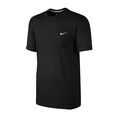 Nike Mens Gym Sports Cotton Black Tee T-Shirt Top Swoosh Classic Size L, Large