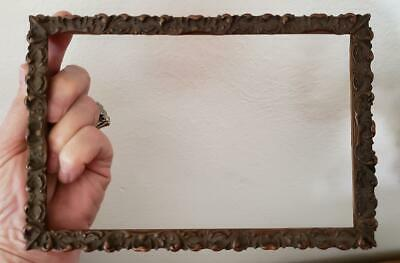 Antique 1890's-1910 Victorian 5 x 7 3/4 Wood and Gesso Vintage Picture Frame