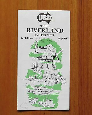 Vintage UBD Map of the Riverland and District 7th Edition 1990