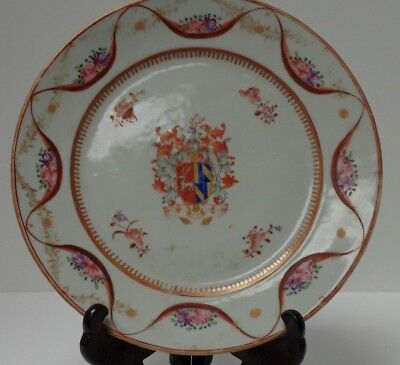 French 19th Century Samson Elk Coat of Arms Decorative Plate