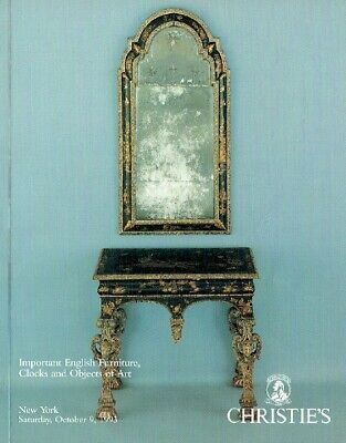 Christies October 1993 Important English Furniture, Clocks & Objects of Art