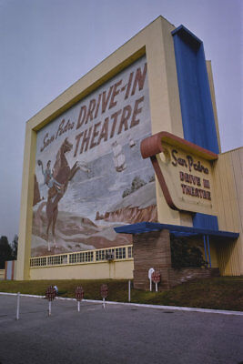 San Pedro Drive-in Movie Theater Gaffey St Los Angeles CA 1977 View 8x12 photo