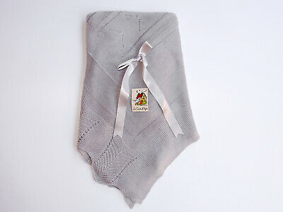 Baby Knit Blanket / Baby Shawl. Made in Spain.
