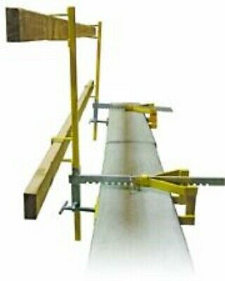 Guardian Fall Protection 15170 Parapet Clamp Guardrail SET OF 2 FREE SHIPPING!!
