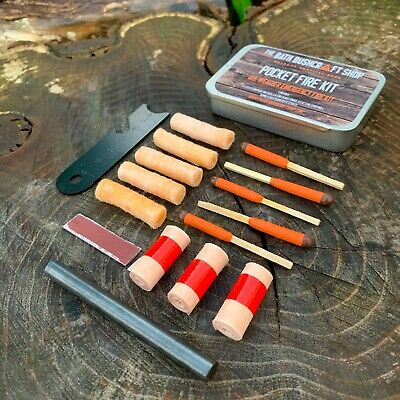 Uco Imperméable TEMPETES Survival Match Kit Orange Bushcraft Survie EDC