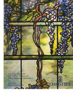 Christies 1990 Important works by Tiffany & other Glassmakers