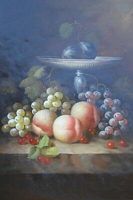 """Fruit Sight Original Hand Painted 12""""x16"""" Oil Painting Food Canvas Art"""