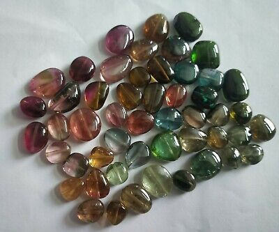 50 Piece Natural Tourmaline Gemstone Mix Nugget Smooth Beads 174 cts Approx Lot