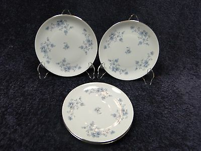 "Johann Haviland Blue Garland COUPE Bread Plates 6"" Bavaria (Set of 4) NICE"