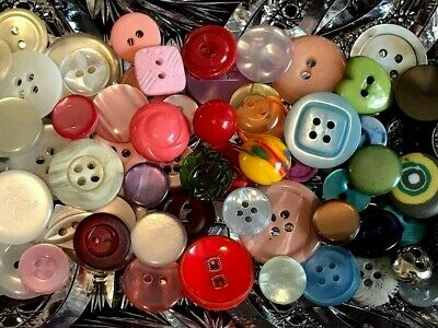 Lot of 115 Vintage Antique Tiny Treasures Carved Glass Metal Rhinestone Buttons