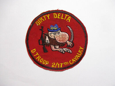 PATCH - US Army 2-17 2nd Squadron 17th Cavalry Delta Troop Vietnam