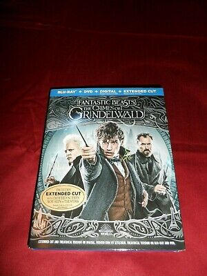 Fantastic Beasts Crimes Of Grindelwald Blu-Ray + DVD Extended Cut  w/ Slipcover