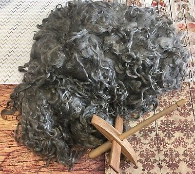 Raw Grey Mohair, 1 Lb. Staple 7""