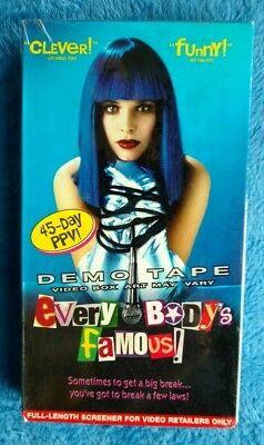 NEW SEALED EVERYBODY'S FAMOUS VHS Tape 2000 Screener Copy Comedy Thekla Reuten