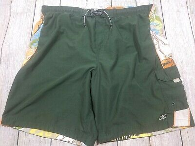 380fed7ea3 SZ XL REEBOK Elastic Waist Swim Boarding Sports Active Shorts, Solid ...