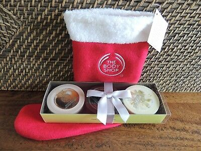 THE BODY SHOP Mini Butter Trio Christmas Stocking Coconut, Shea, Moringa NEW