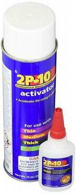 Fastcap 2P-10 Super Glue Adhesive 2.25 Ounce Thick and 12 Activator Combo Pack