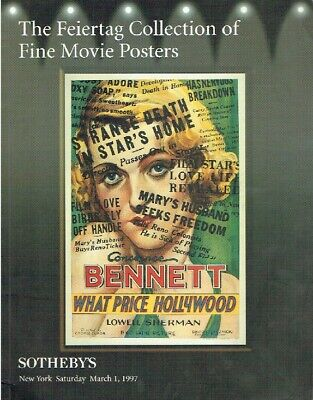 Sothebys March 1997 The Feiertag Collection of Fine Movie Posters