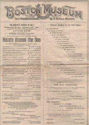 *booth Dynasty: Junius Brutus Booth Iii Rare Large 1889 Theatre Program*