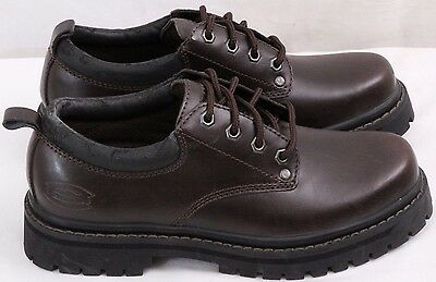 SKECHERS 7111 ALLEY Cats Casual Work Shoes Lace Up Plain Toe