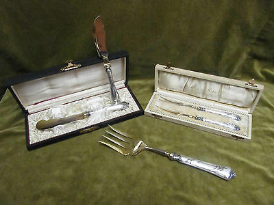 1900 german 800 silver & golden metal 5 serving pieces modern style