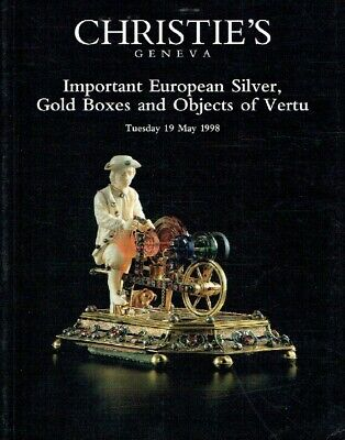 Christies May 1998 Important European Silver, Gold Boxes and Objects of Vertu