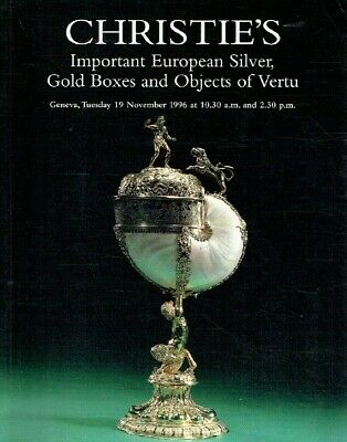 Christies November 1996 Important European Silver, Gold Boxes & Objects of Vertu