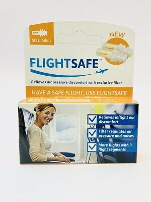 New Earplanes Flight Ear Protection For Adult 1 Pair Ear Plugs