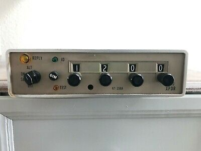 Arc  Rt-359A Transponder Pn: 41420-1114 14 Vdc With Faa Form 8130-3