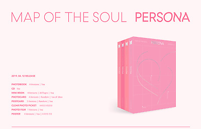 BTS Map Of The Soul:Persona Album + 5 Gifts + Random Unfolded Poster