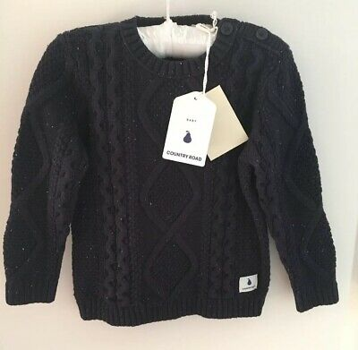 Country Road Baby boy jumper knit, size 18-24 months (size 2), 100% Cotton, BNWT