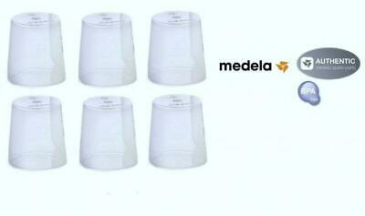 (6) Medela Clear Travel Caps/ bottle cap/ nipple collar cap - Genuine for...
