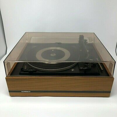 DUAL 1212 Vintage Turntable w Noresco Base, Cover, Shure Cartridge TESTED WORKS