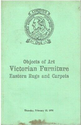 Christies February 1976 Victorian Furniture, Rugs & Carpets, Objects of Art