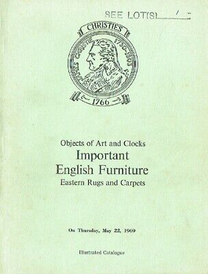 Christies May 1969 Important English Furniture & Carpets