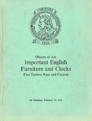 Christies February 1971 Important English Furniture & Carpets