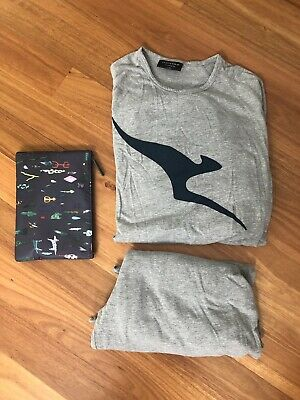 Qantas Business L/XL Pyjamas And Amenity Bag (No Contents) Used Once And Washed