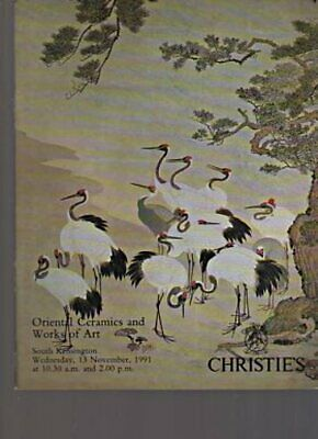 Christies 1991 Oriental Ceramics and Works of Art